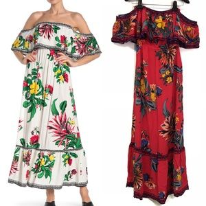 Flying Tomato Off the Shoulder Floral Maxi Dress